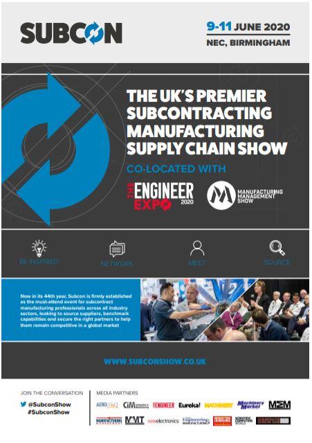 Subcon 2020: UK's premier subcontract supply chain show - Brochure
